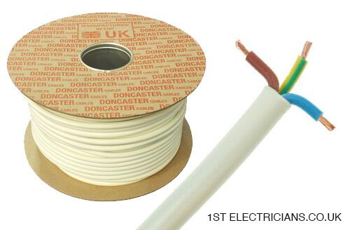 flex cable size 1st electricians